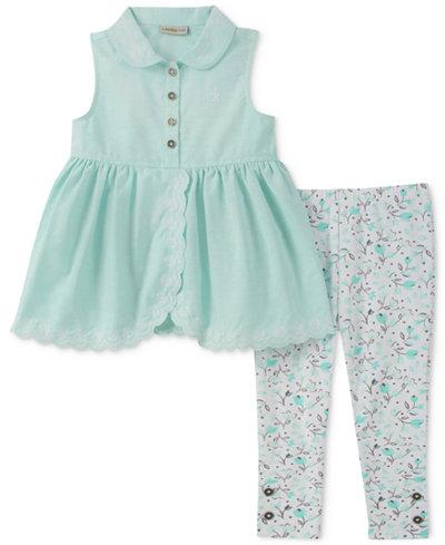 Calvin Klein 2-Pc. Tunic & Printed Leggings Set, Baby Girls