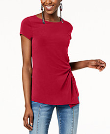 I.N.C. Twist-Front Asymmetrical Top, Created for Macy's