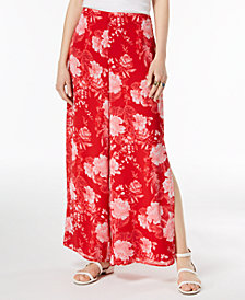 I.N.C. Floral-Print Wide-Leg Pants, Created for Macy's