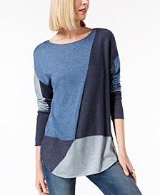 I.N.C. Colorblocked Sweater, Created for Macy's