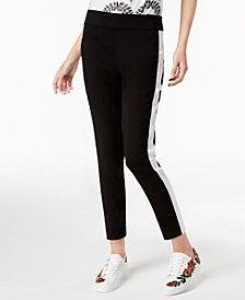 I.N.C. Petite Side-Stripe Skinny Pants, Created for Macy's