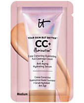 Receive a FREE It Cosmetics Your Skin But Better CC+ Illumination Packette in Medium with any $25 Cosmetics purchase