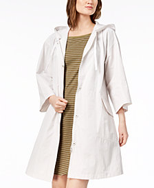Eileen Fisher Organic Cotton Blend Hooded Anorak Jacket