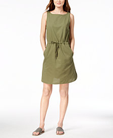 Eileen Fisher Organic Cotton Drawstring Dress, Created for Macy's