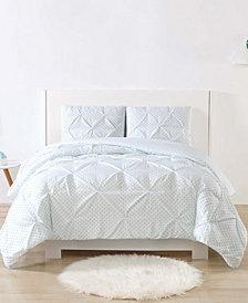 Laura Hart Kids Printed Dot Pinch Pleat 2-Pc. Twin/Twin XL Comforter Set