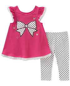 Kids Headquarters 2-Pc. Bow Tunic & Leggings Set, Baby Girls