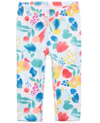 Baby Girls Graphic-Print Leggings, Created for Macy's