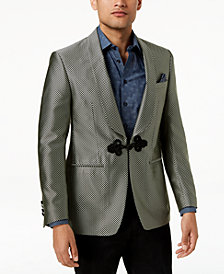 Tallia Orange Men's Modern-Fit Black Geometric Shawl-Lapel Dinner Jacket