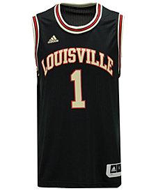 adidas Men's Louisville Cardinals Hardwood Replica Basketball Jersey