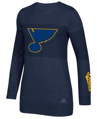 adidas Women's St. Louis Blues Inside Logo Outline Sweatshirt
