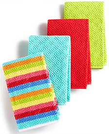 Fiesta Kitchen Towels, Set of 4 Diamonte Bar Mops
