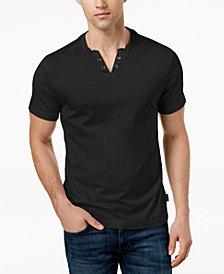 Kenneth Cole New York Mens V-Neck Henley T-Shirt