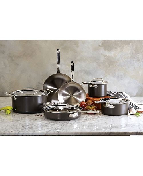 All Clad Ltd 10 Pc Hard Anodized Stainless Steel Cookware