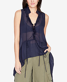 RACHEL Rachel Roy Ruffled High-Low Top, Created for Macy's