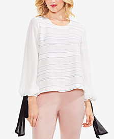 Vince Camuto Tie-Sleeve Blouse