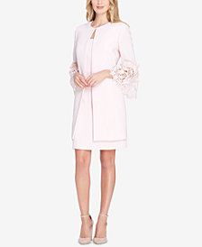 Tahari ASL Lace Bell-Sleeve Dress Suit