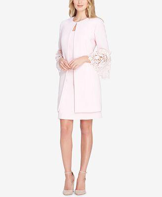 Tahari Asl Lace Bell Sleeve Dress Suit Wear To Work Women Macy S