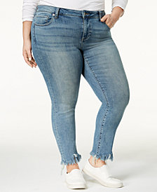 Lucky Brand Trendy Plus Size Ginger Frayed Skinny Jeans