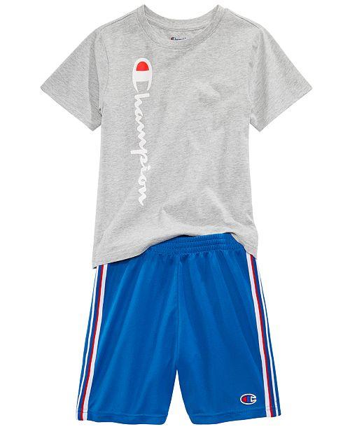 Champion Heritage 2 Pc Logo Print T Shirt Shorts Set Toddler