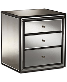 Avatar Mirrored Nightstand, Quick Ship