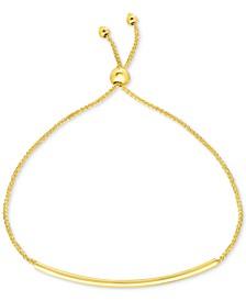 Polished Bar Bolo Bracelet in 10k Gold