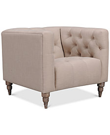 "CLOSEOUT! Tosi 34"" Fabric Armchair, Created for Macy's"