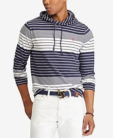 Polo Ralph Lauren Men's Big & Tall Striped Hooded Long-Sleeve T-Shirt