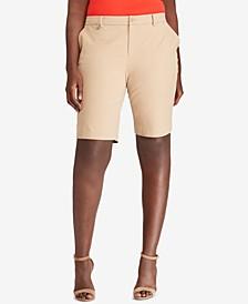 Plus Size Twill Shorts