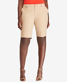 Lauren Ralph Lauren Plus Size Twill Shorts