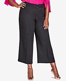 City Chic Trendy Plus Size Cropped Wide-Leg Pants