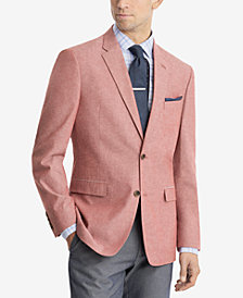 CLOSEOUT! Tommy Hilfiger Men's Modern-Fit Red/White Chambray Sport Coat