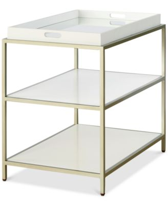 Delano Rectangular End Table with Removable Tray