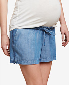 Jessica Simpson Maternity Chambray Shorts