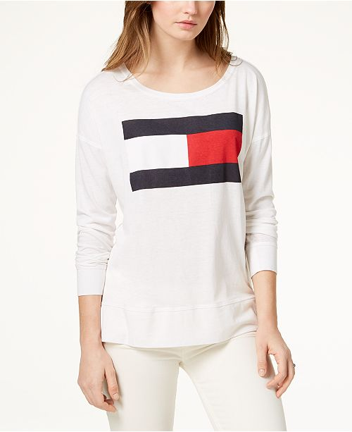31b1752d Tommy Hilfiger Logo-Print T-Shirt, Created for Macy's & Reviews ...