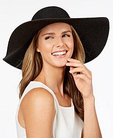 Calvin Klein Metallic-Woven Floppy Hat