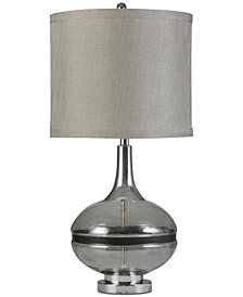 Stylecraft Elyse Smoke Table Lamp