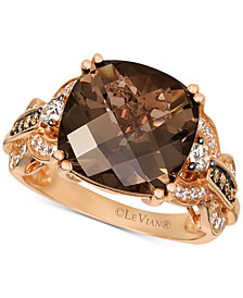 Le Vian® Chocolate Quartz® (6 ct. t.w.) & Diamond (1/3 ct. t.w.) Ring in 14k Rose Gold