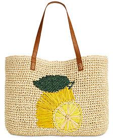 I.N.C. Gabyy Lemon Extra-Large Beach Tote, Created for Macy's