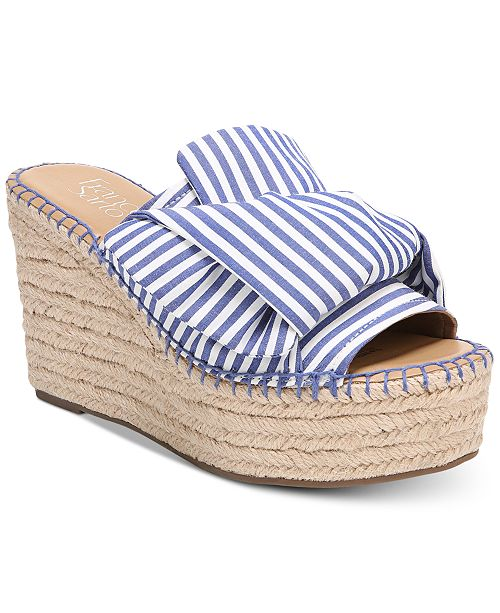 Franco Sarto Talinda 2 Platform Espadrille Wedge Sandals Women's Shoes WO3aG9