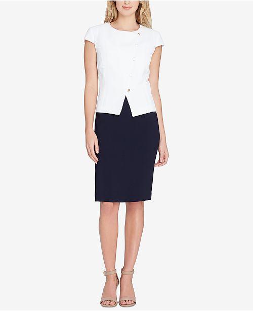 f085bf7aba7 Tahari ASL Asymmetrical Skirt Suit  Tahari ASL Asymmetrical Skirt Suit ...