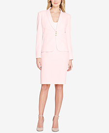 Tahari ASL Pintucked Skirt Suit