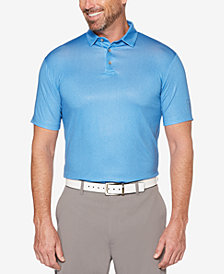 PGA TOUR Men's Herringbone-Print Golf Polo