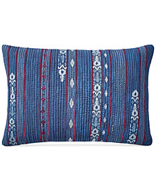 "Lucky Brand Kantha 14"" x 22"" Decorative Pillow, Created for Macy's"