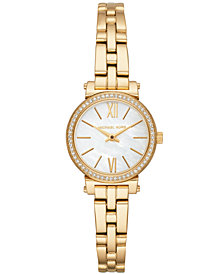 Michael Kors Women's Petite Sofie Gold-Tone Stainless Steel Bracelet Watch 26mm