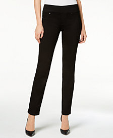 Lee Platinum Petite Black Pull-On Slim-Fit Jeans