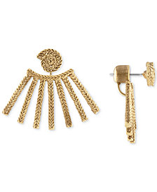 RACHEL Rachel Roy Gold-Tone Rope Floater Earrings