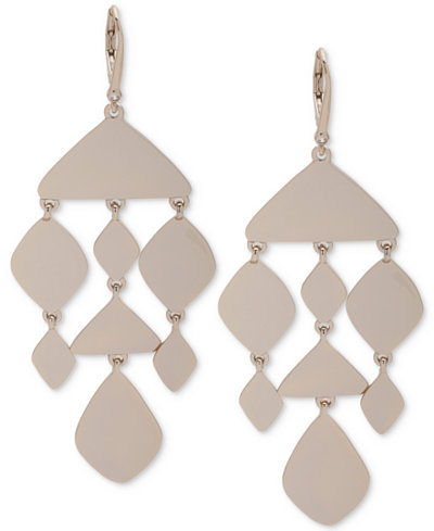 Dkny Gold Tone Chandelier Earrings Created For Macy S