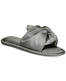 I.N.C. Women's Satin Knotted Slide Slippers, Created for Macy's