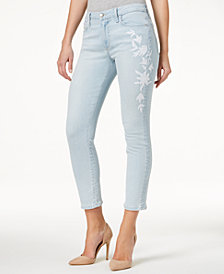 Joe's Jeans The Icon Crop Embroidered Jeans