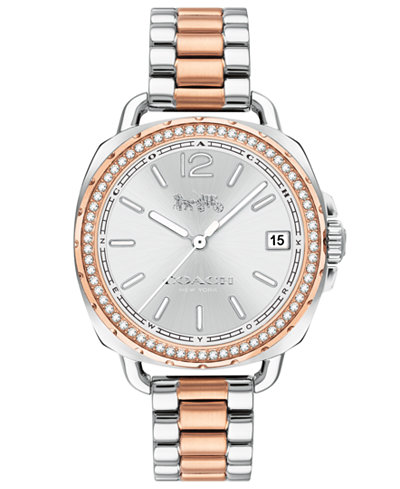 COACH Women's Tatum Two-Tone Stainless Steel Bracelet Watch 34mm